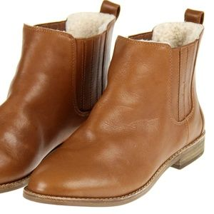 J Crew Madewell The Chelsea Boot In Shearling